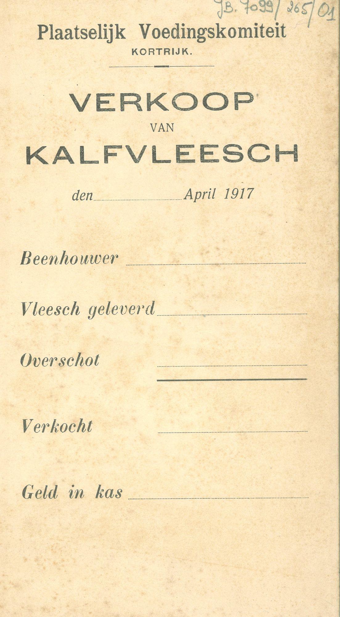 Voedselbedeling 1917