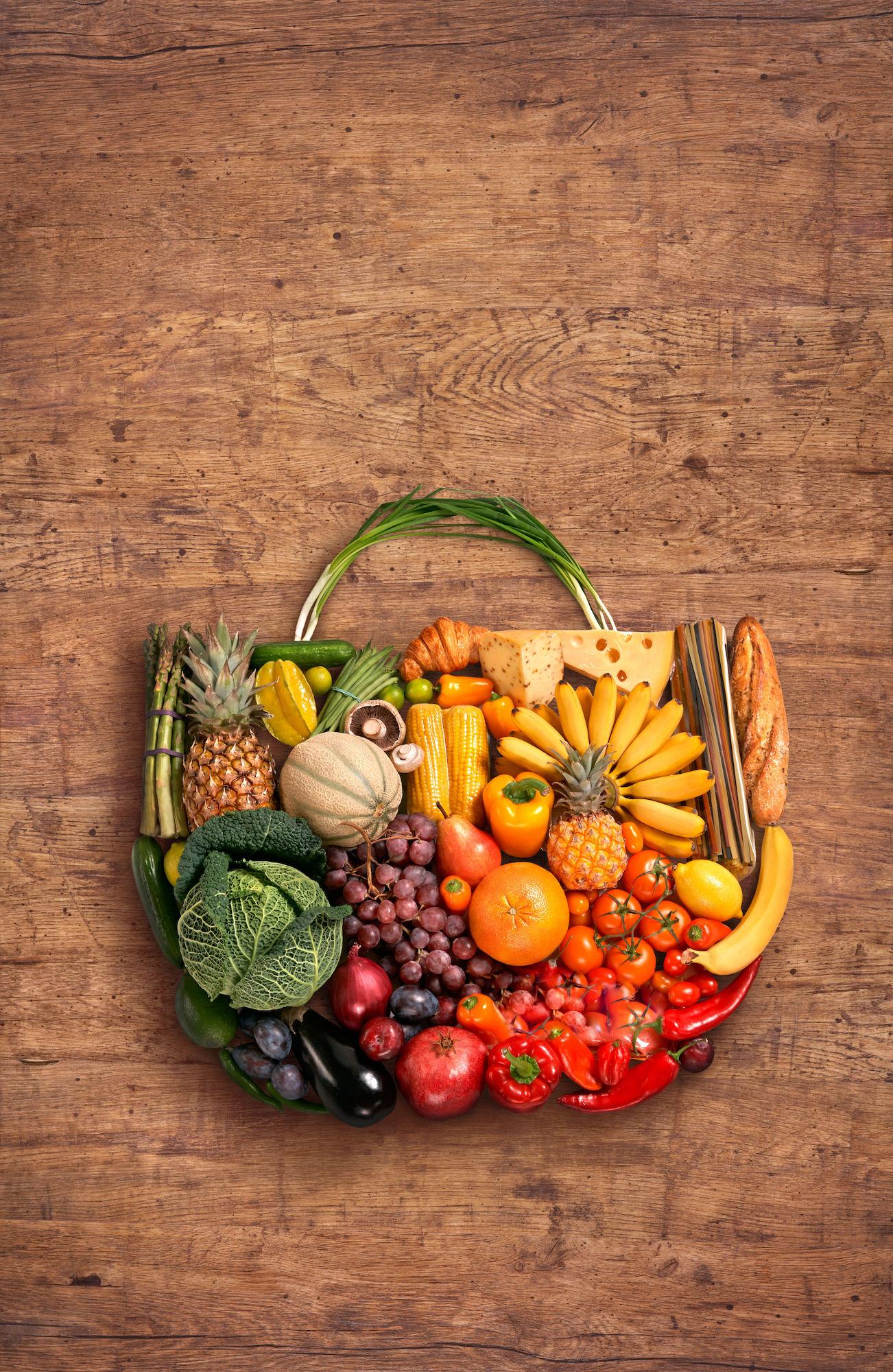 Mandje uit groenten