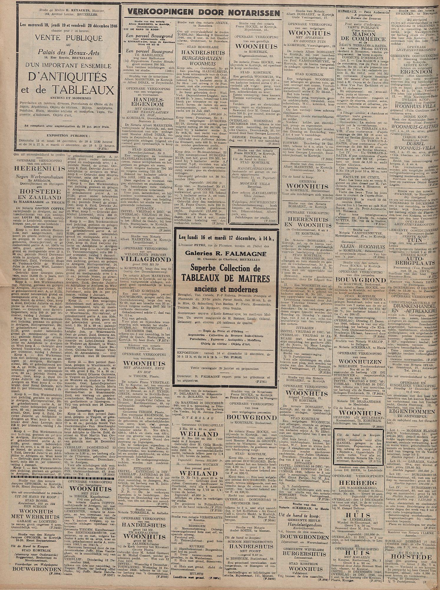 Kortrijksch Handelsblad 5 december 1946 Nr98 p4