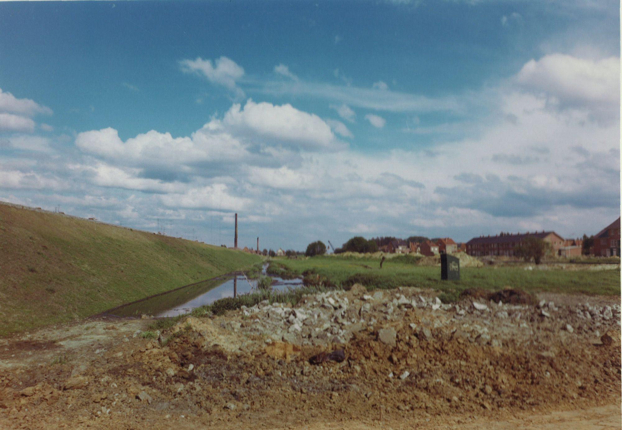 Aanleg van de Eikenlaan en Populierenlaan 1965