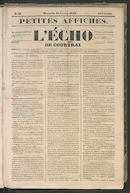 L'echo De Courtrai 1849-02-18