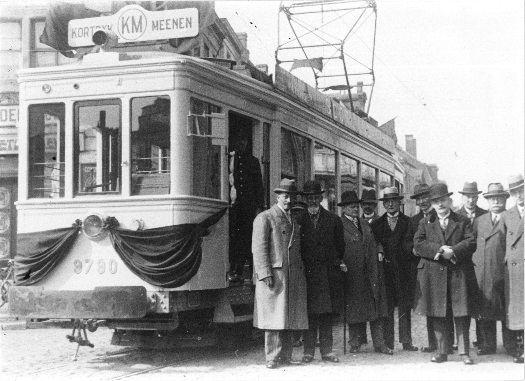 Inwijding elektrische tram van Kortrijk naar Menen