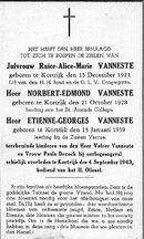 Norbert-Edmond en Etienne-Georges Vanneste