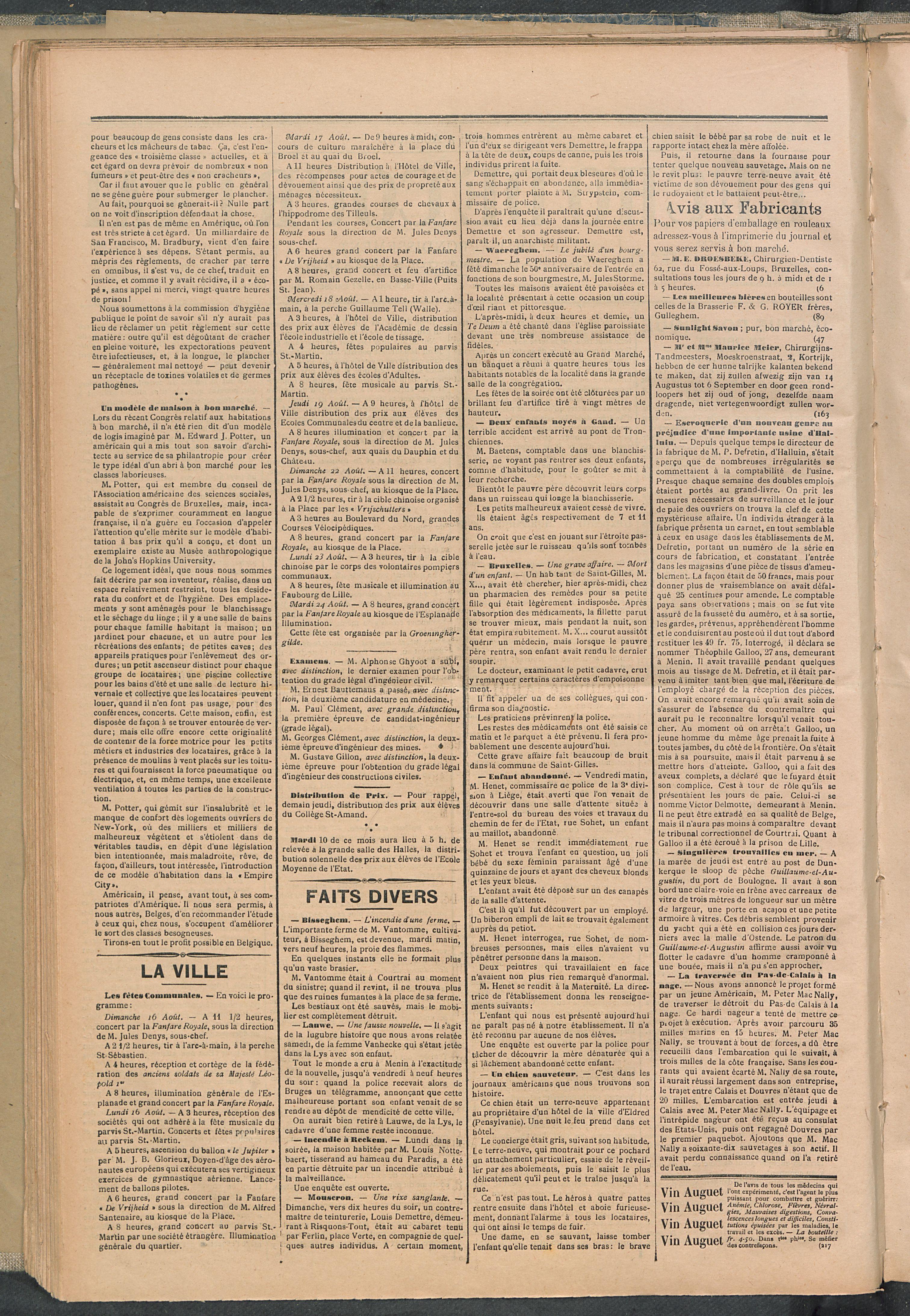 L'echo De Courtrai 1897-08-05 p2