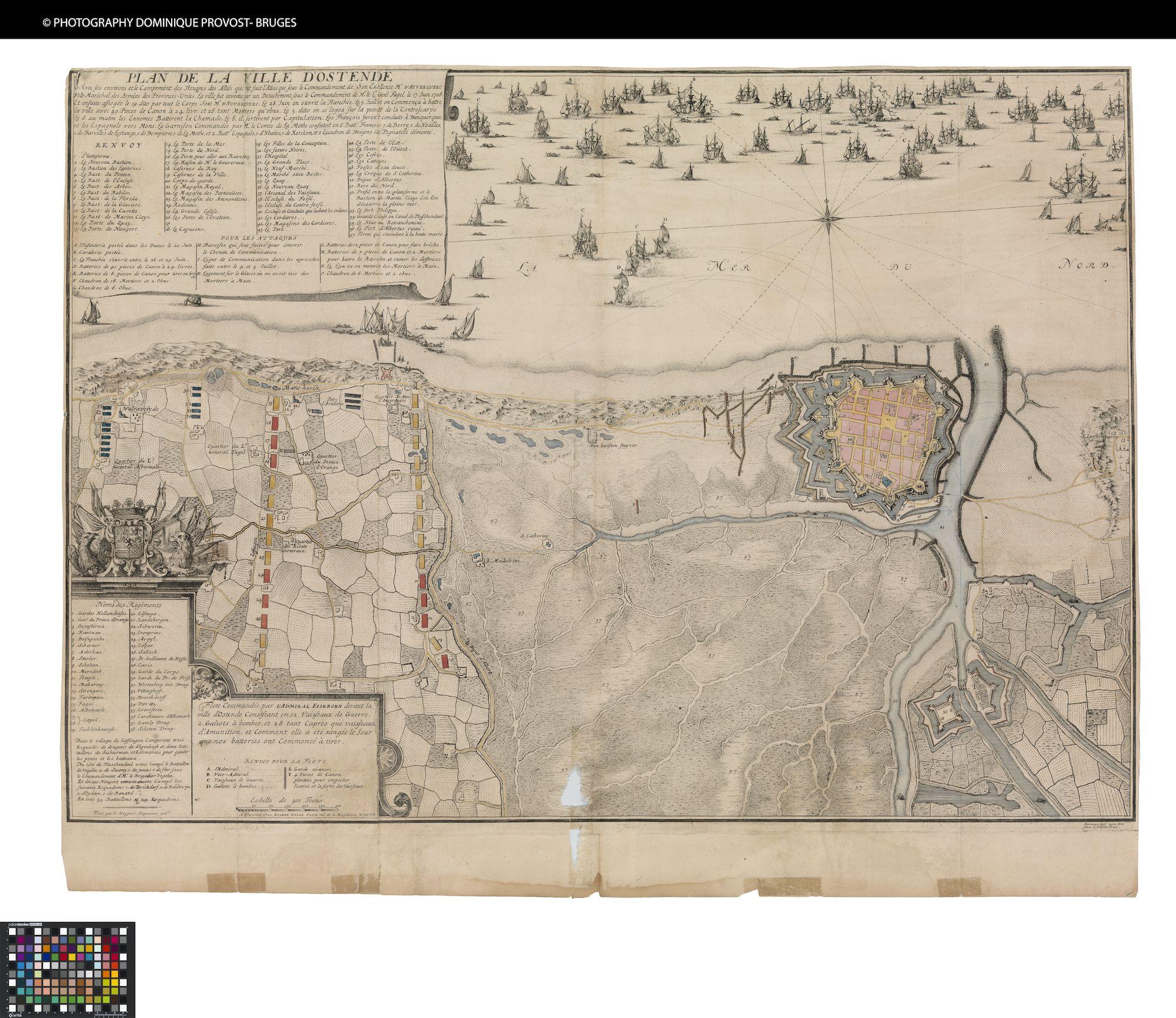 Westflandrica - Oostende, plan tijdens de belegering in 1706