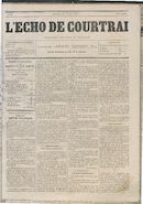 L'echo De Courtrai 1877-02-25