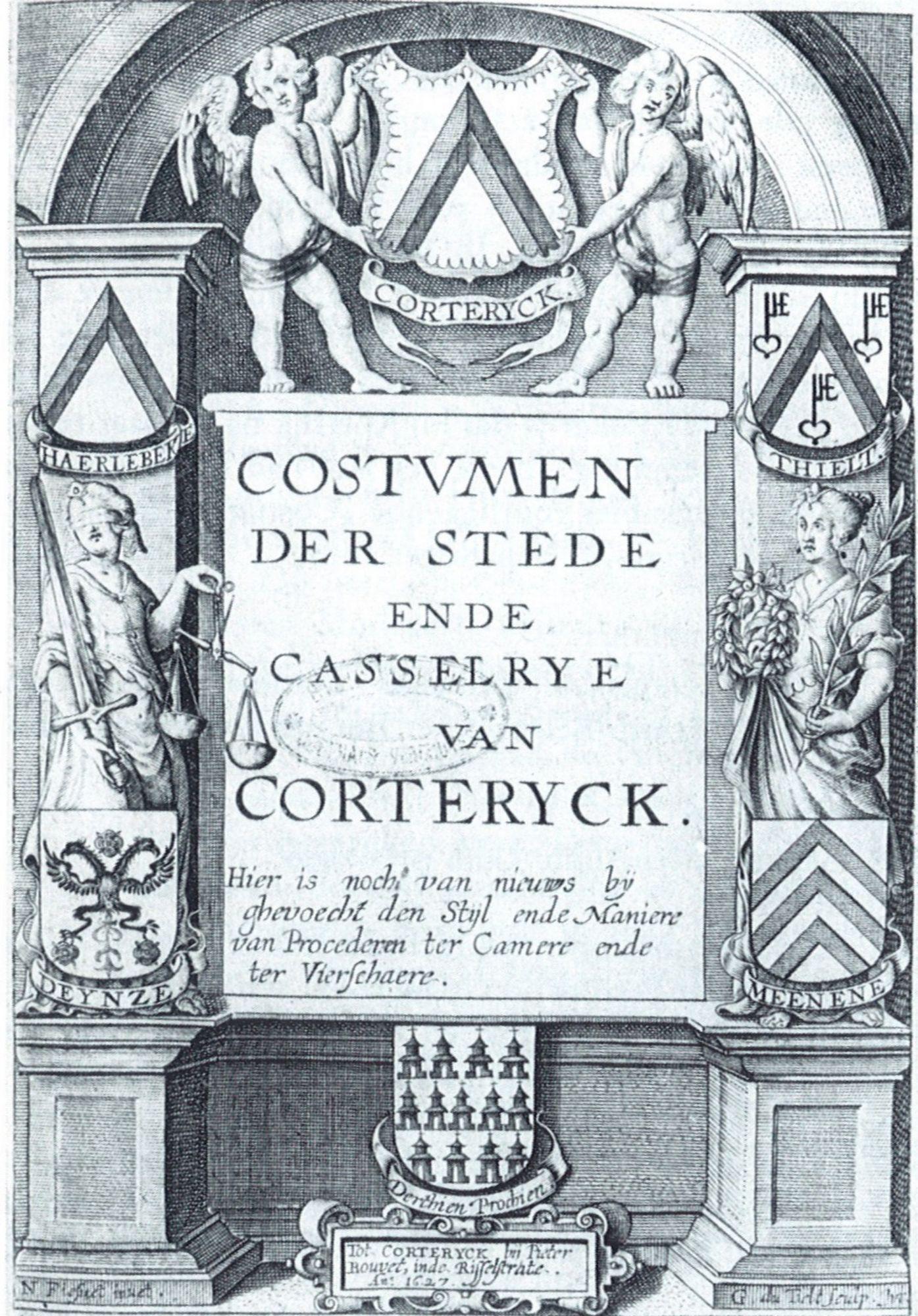Costumen der stede ende casselrye van Corteryck