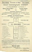 Paasfoor 1907: Grand Cinématographe Gérardy