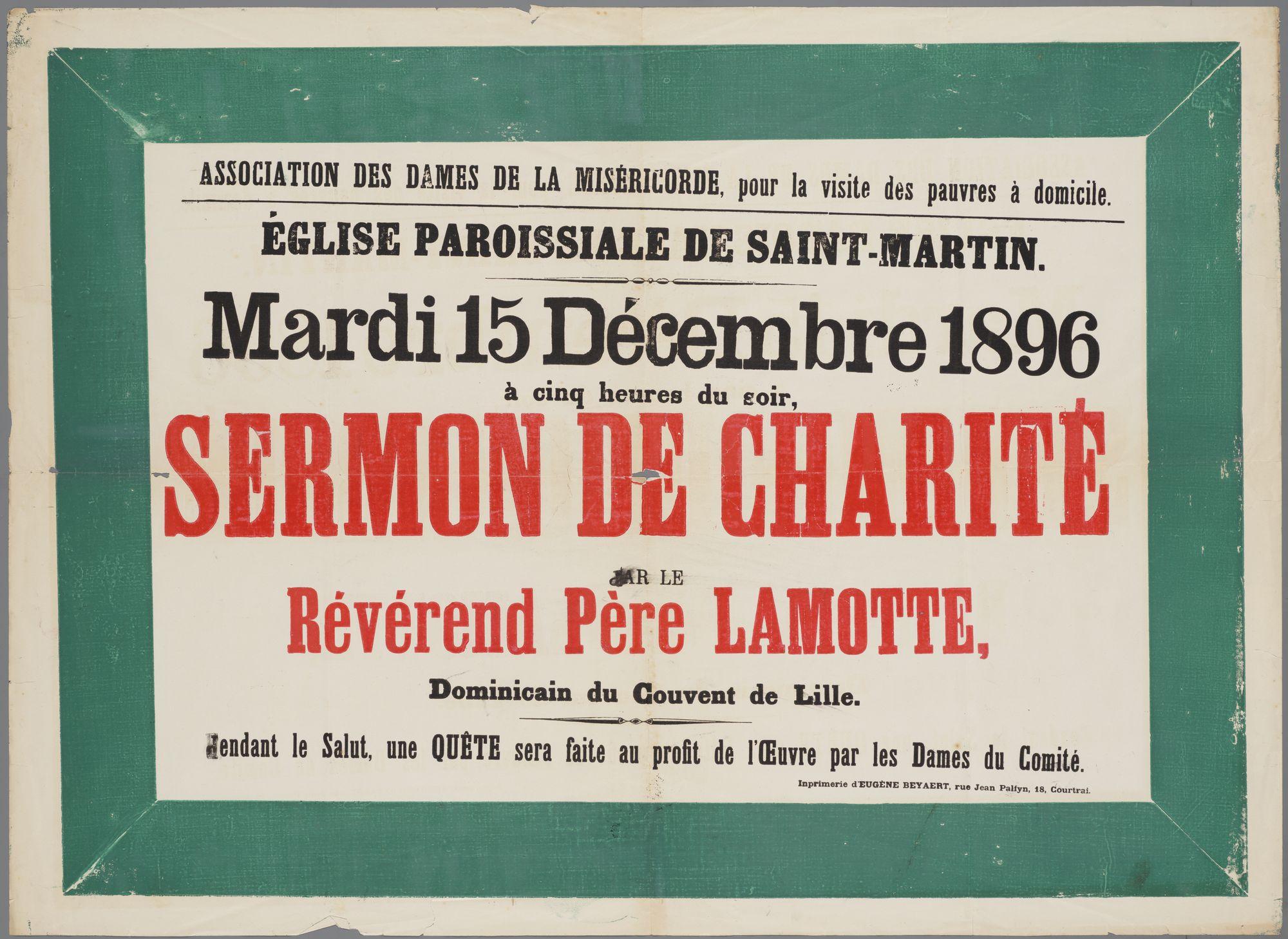 Plechtigheden Sint-Maartenskerk 1896