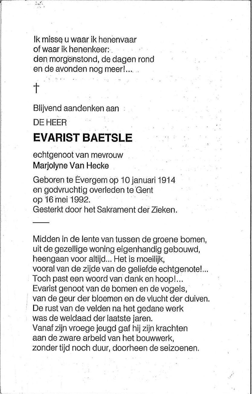 Baetsle Evarist