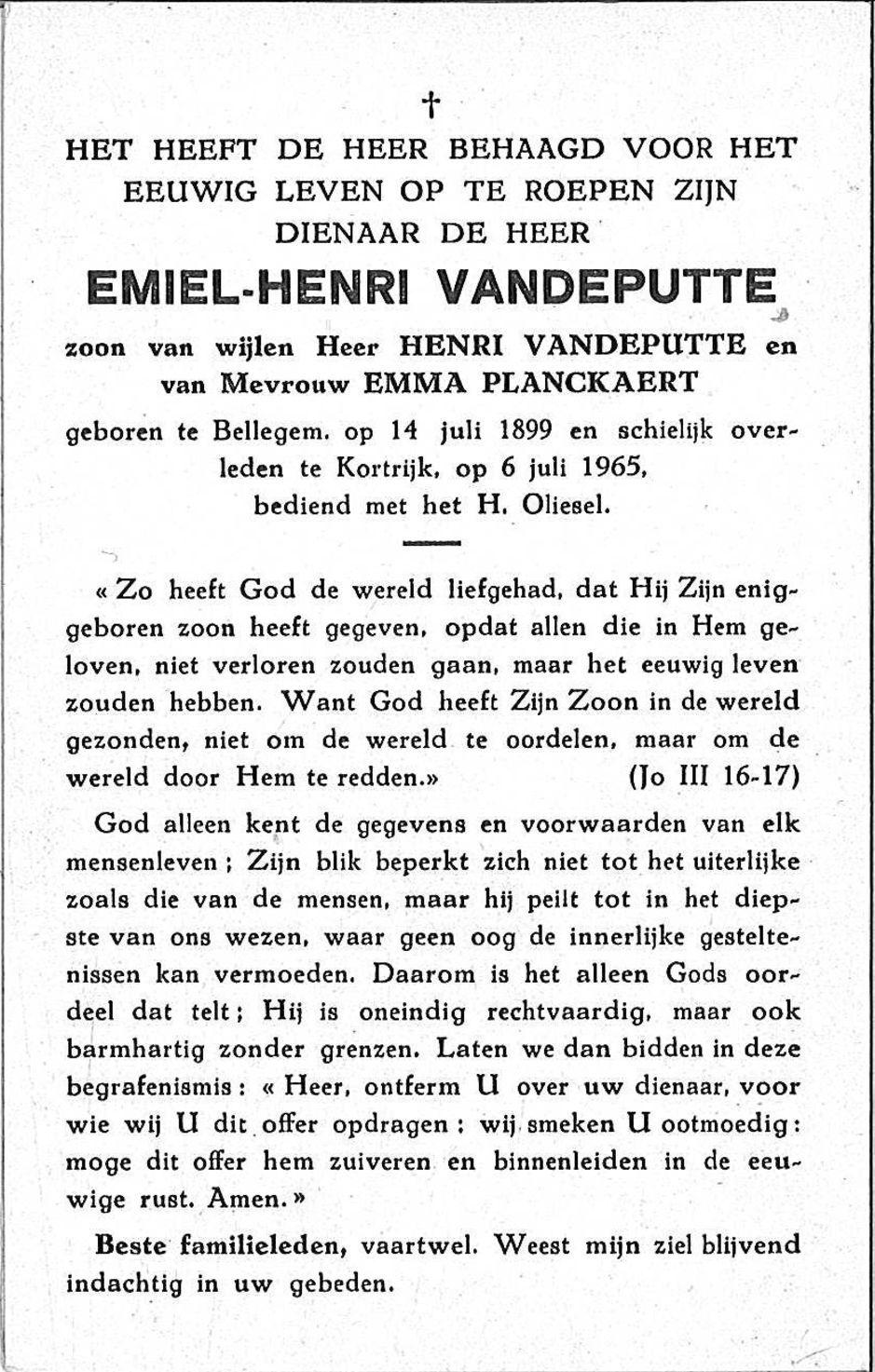 Emiel-Henri Vandeputte