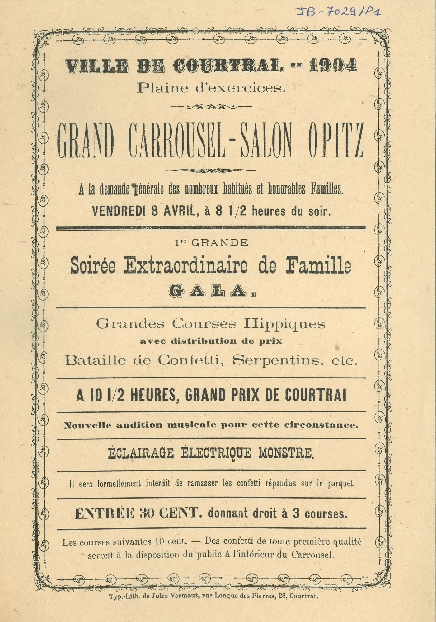 Paasfoor1904: Grand Carrousel-Salon Opitz