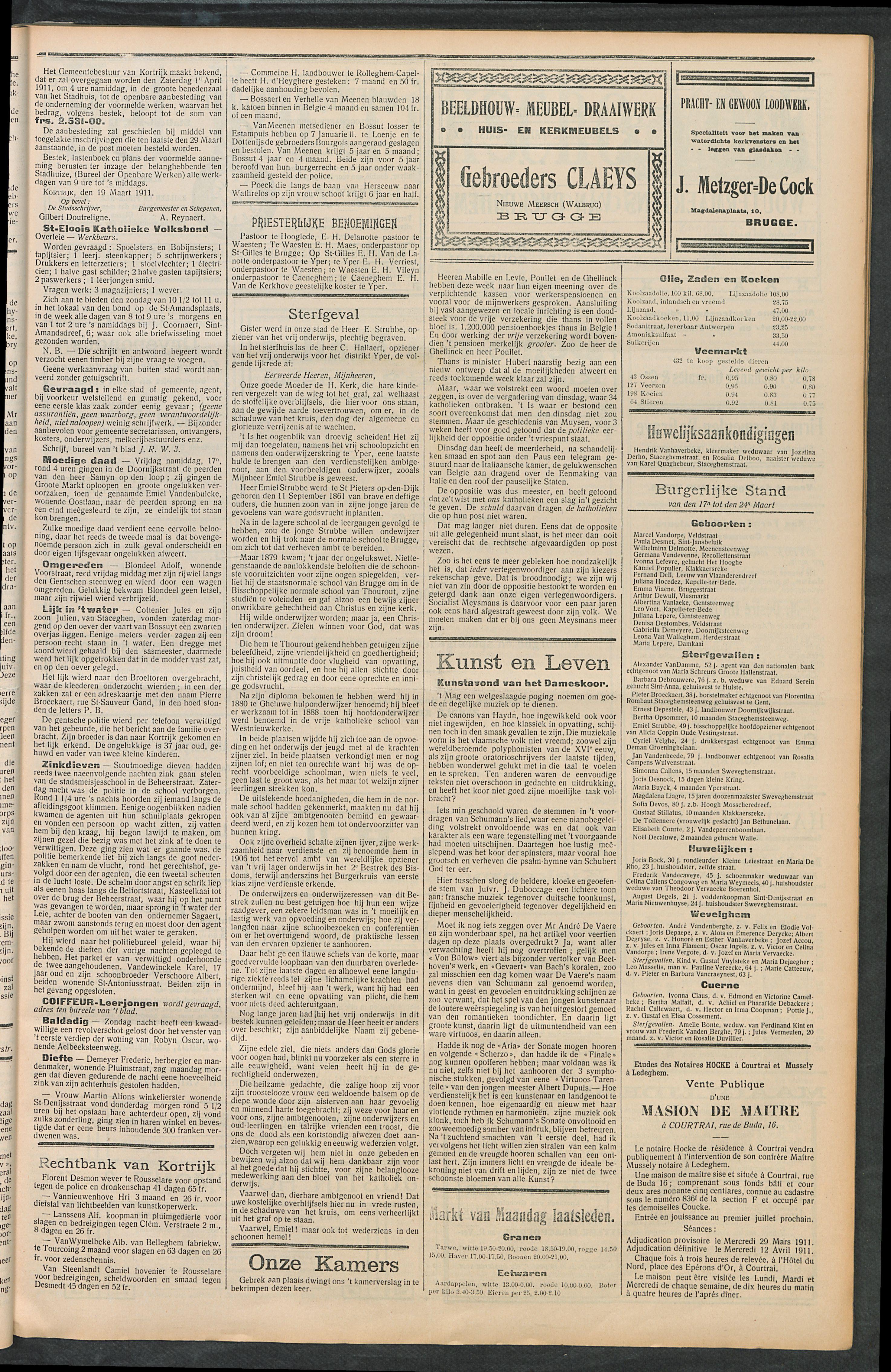 Het Kortrijksche Volk 1911-03-26 p3
