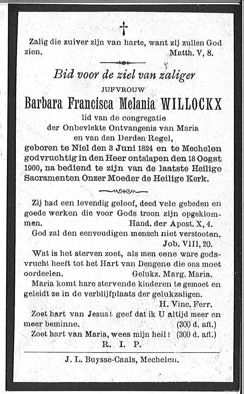 Barbara Francisca Melania Willockx
