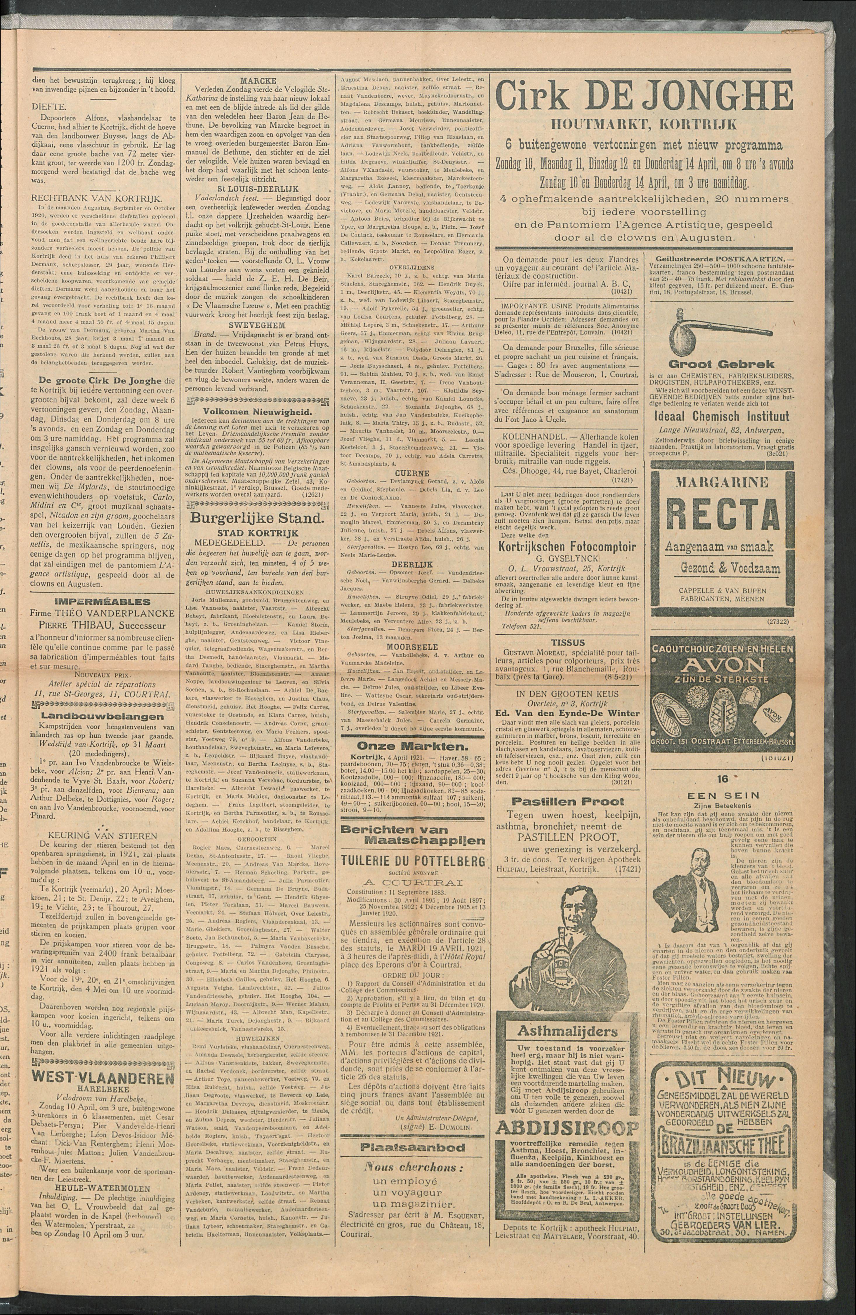 Het Kortrijksche Volk 1921-04-10 p3