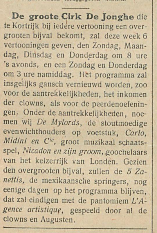 Cirk De Jonghe