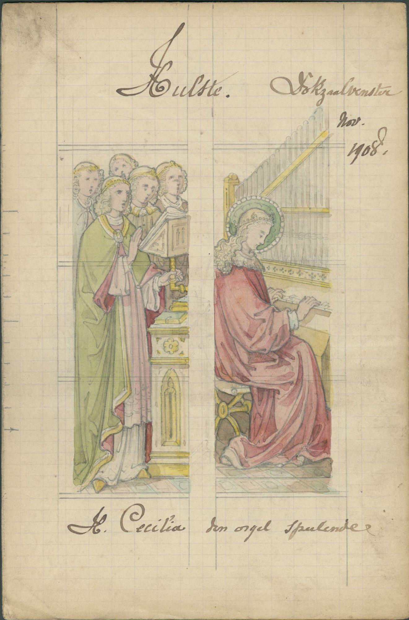 Westflandrica - ontwerp voor een glasraam