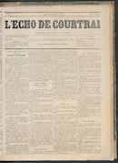 L'echo De Courtrai 1876-11-23