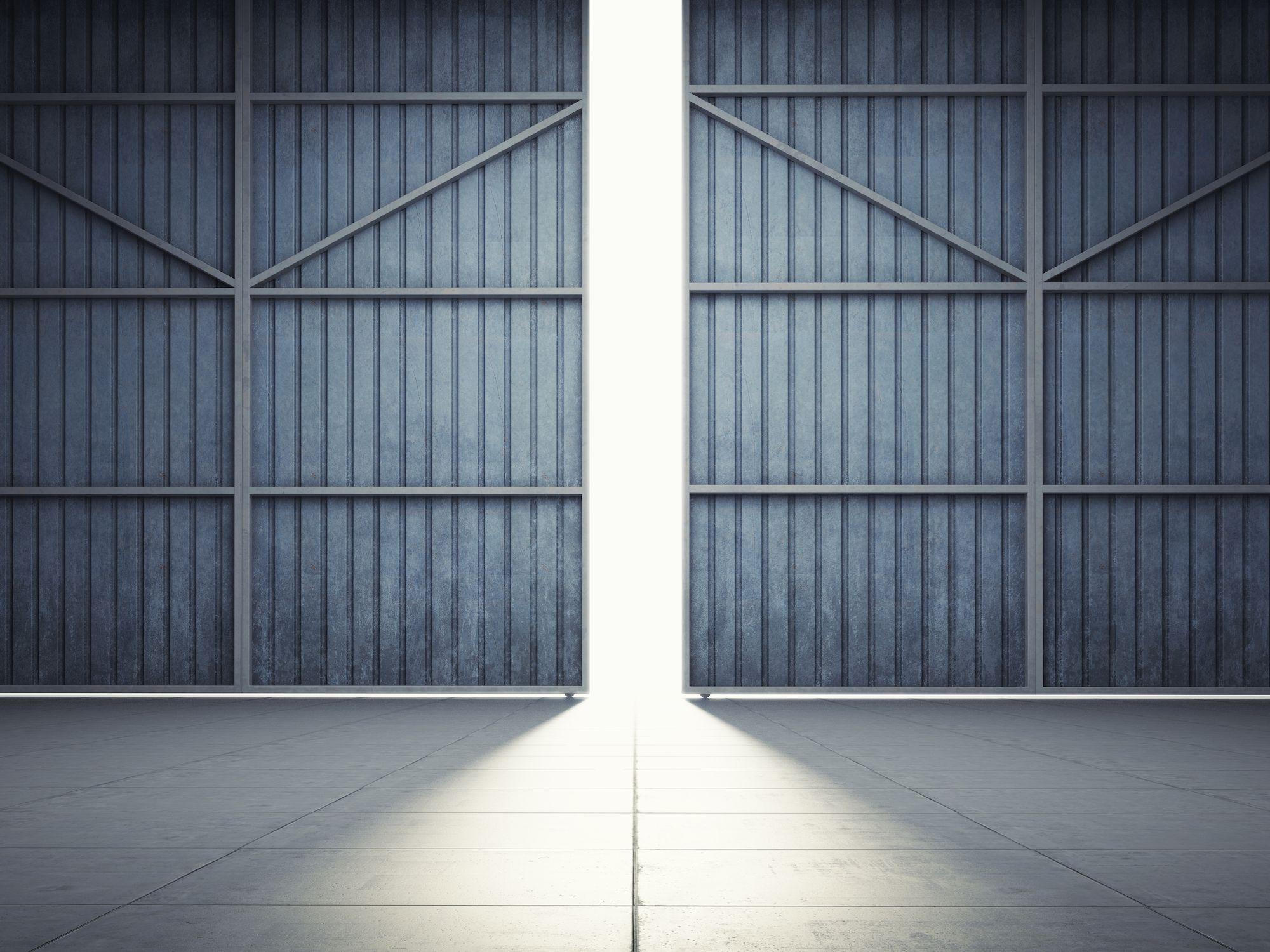 Openstaande hangar
