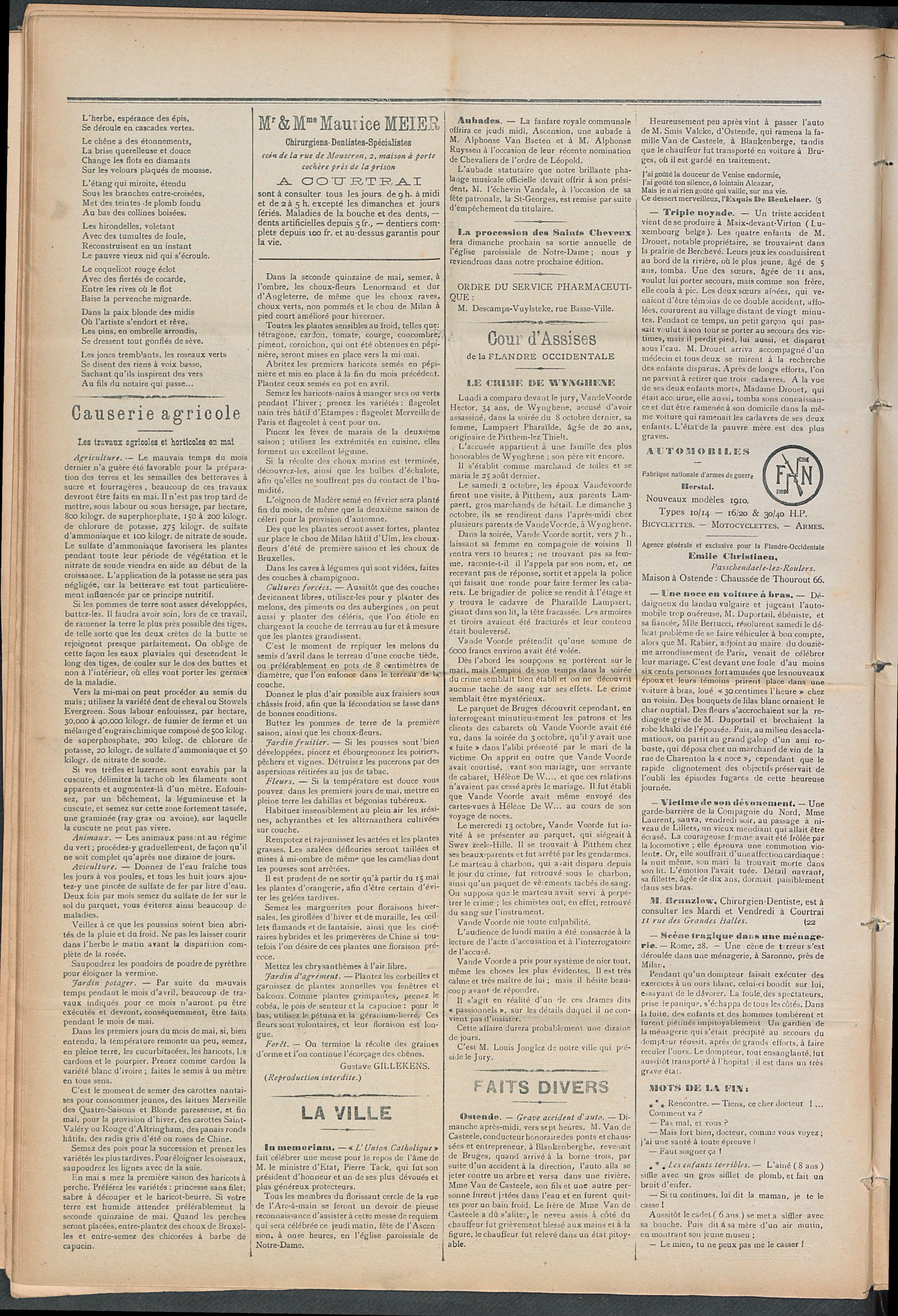 L'echo De Courtrai 1910-05-05 p2