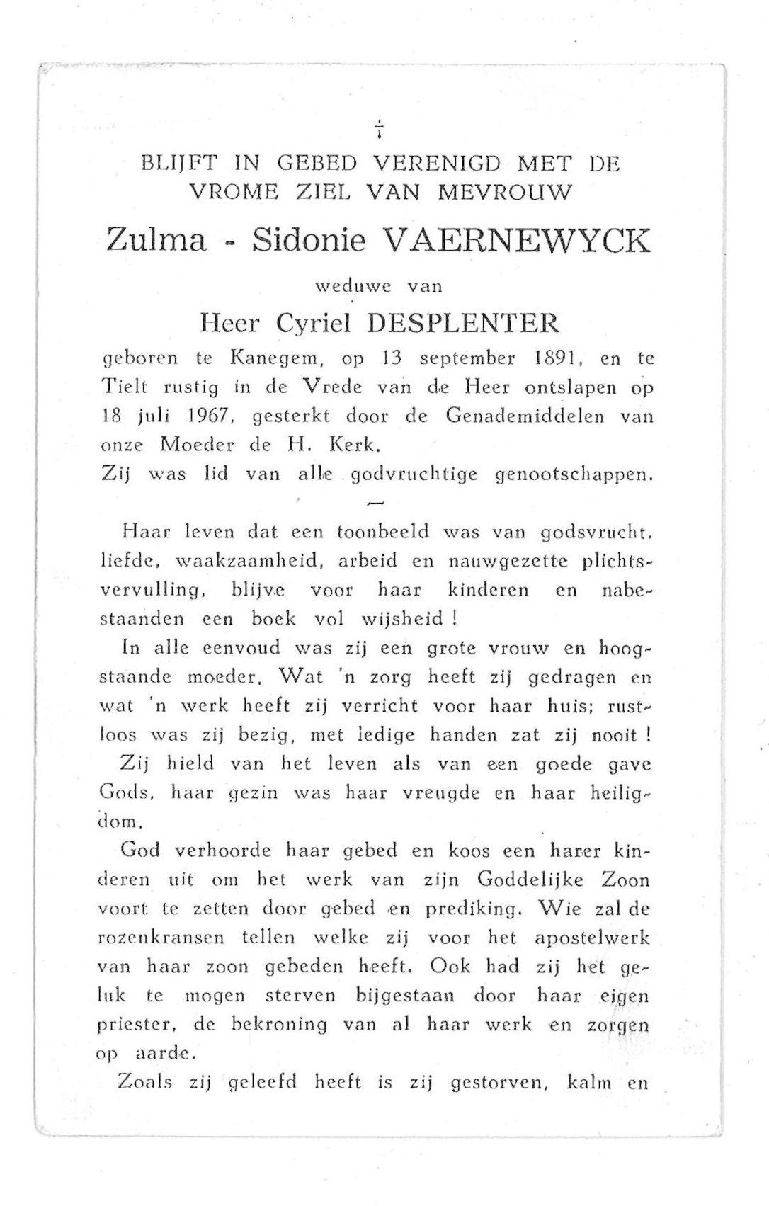 Zulma-Sidonie Vaernewyck