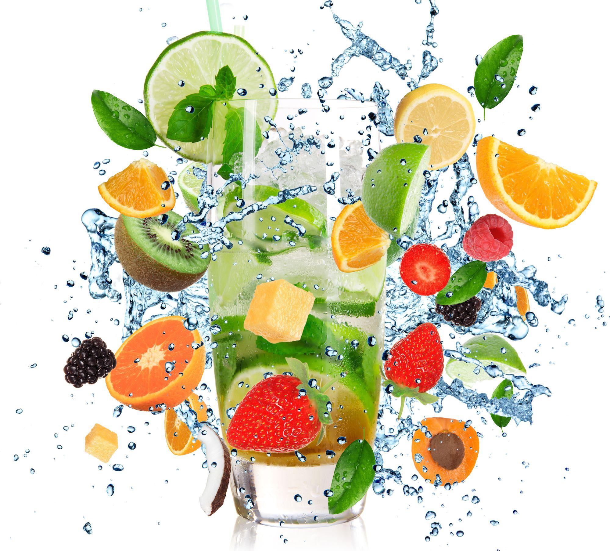 Water met fruit