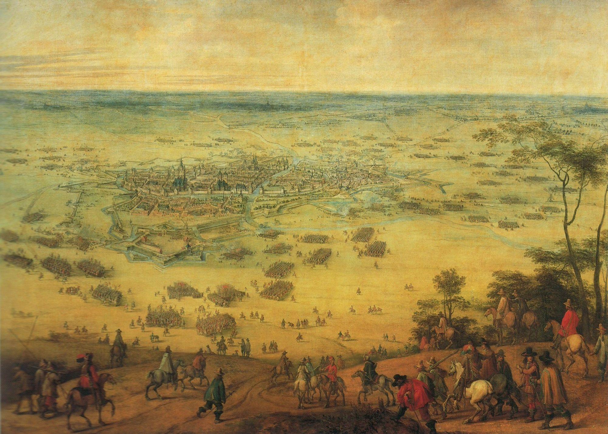 Schilderij van Kortrijk door Petrus Snayers