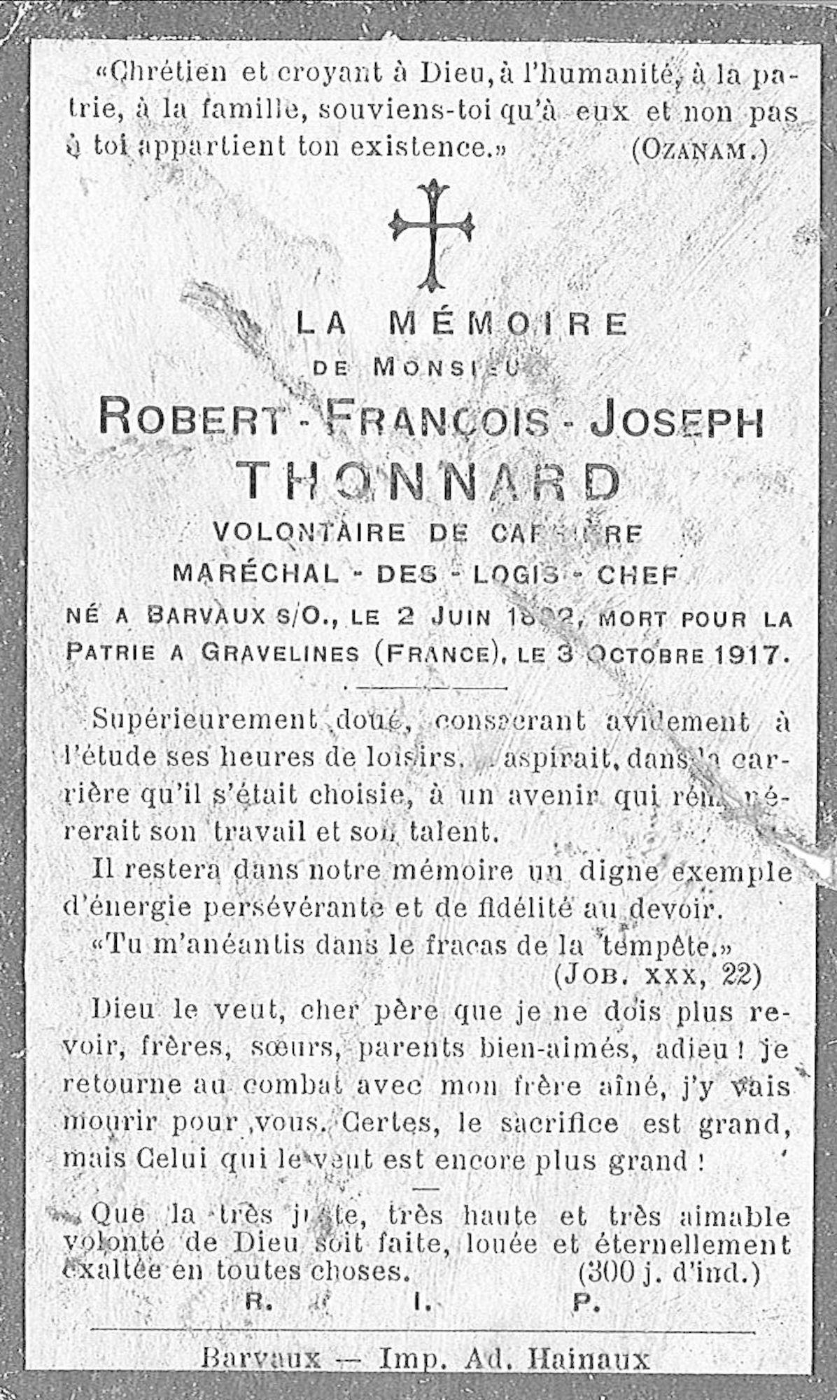 Robert-François-Joseph Thonnard