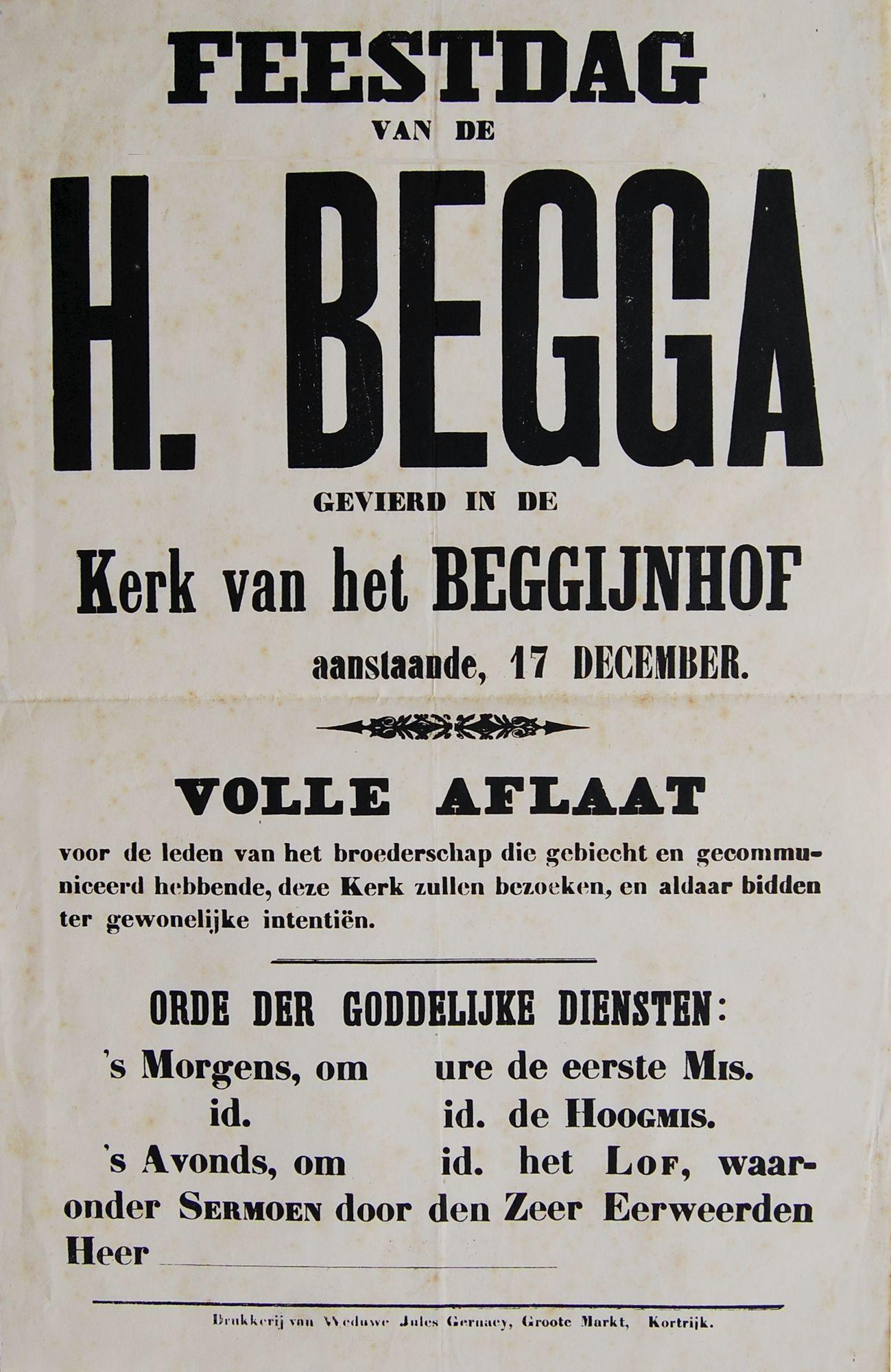 Feestdag Heilige Begga