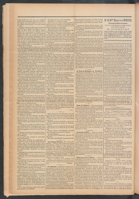 L'echo De Courtrai 1911-03-05 p2