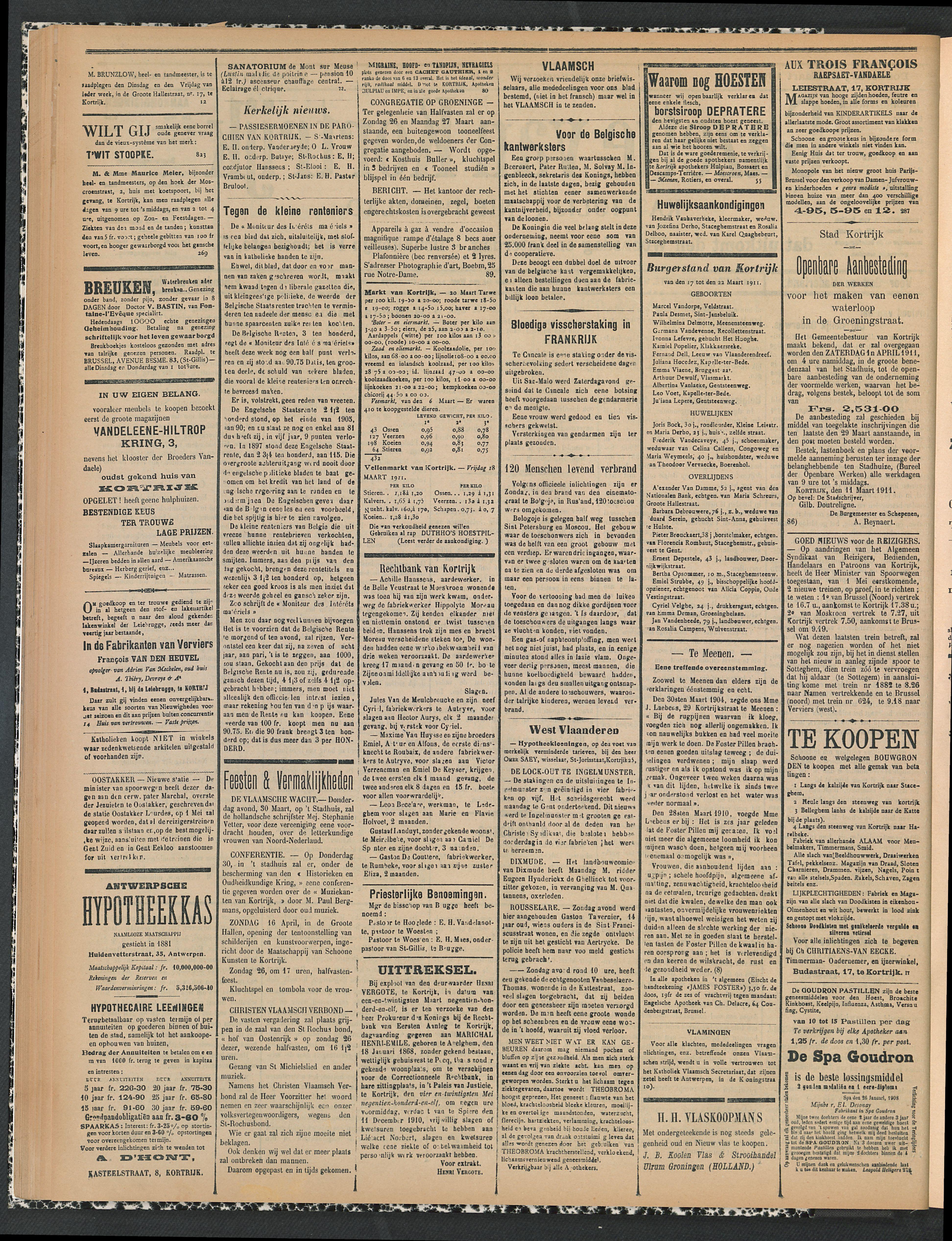 Gazette Van Kortrijk 1911-03-23 p2