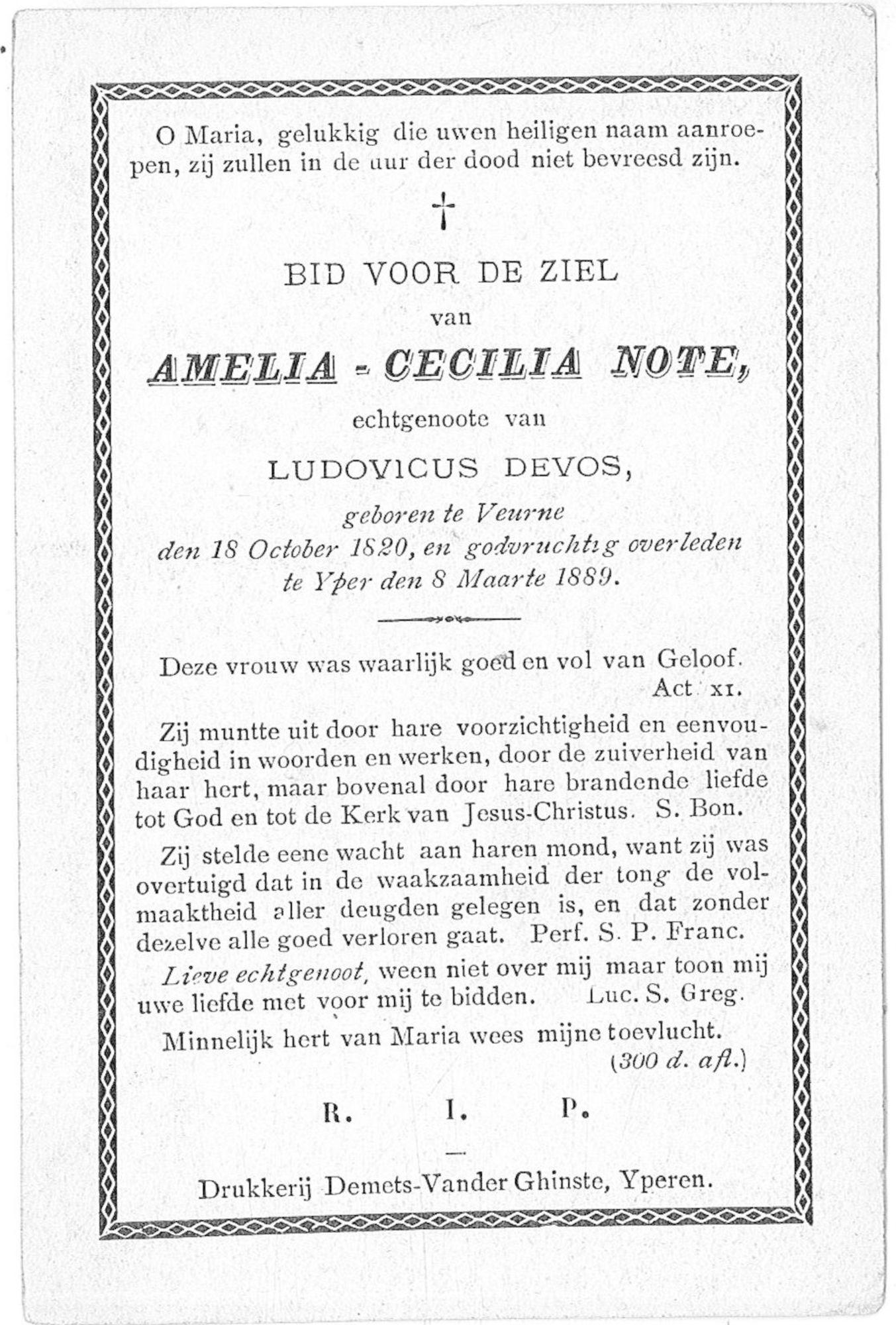 Amelia-Cecilia Note