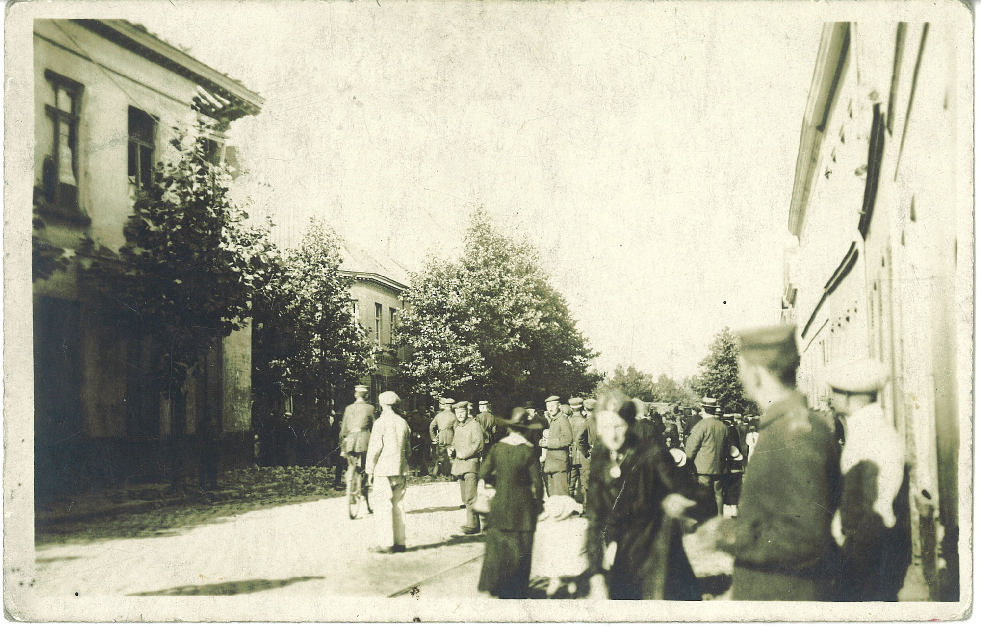 Brugsesteenweg tijdens Wereldoorlog I