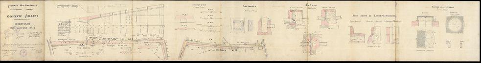 Plan met de verbetering van voetweg nr. 50 te Aalbeke, 1930-1931