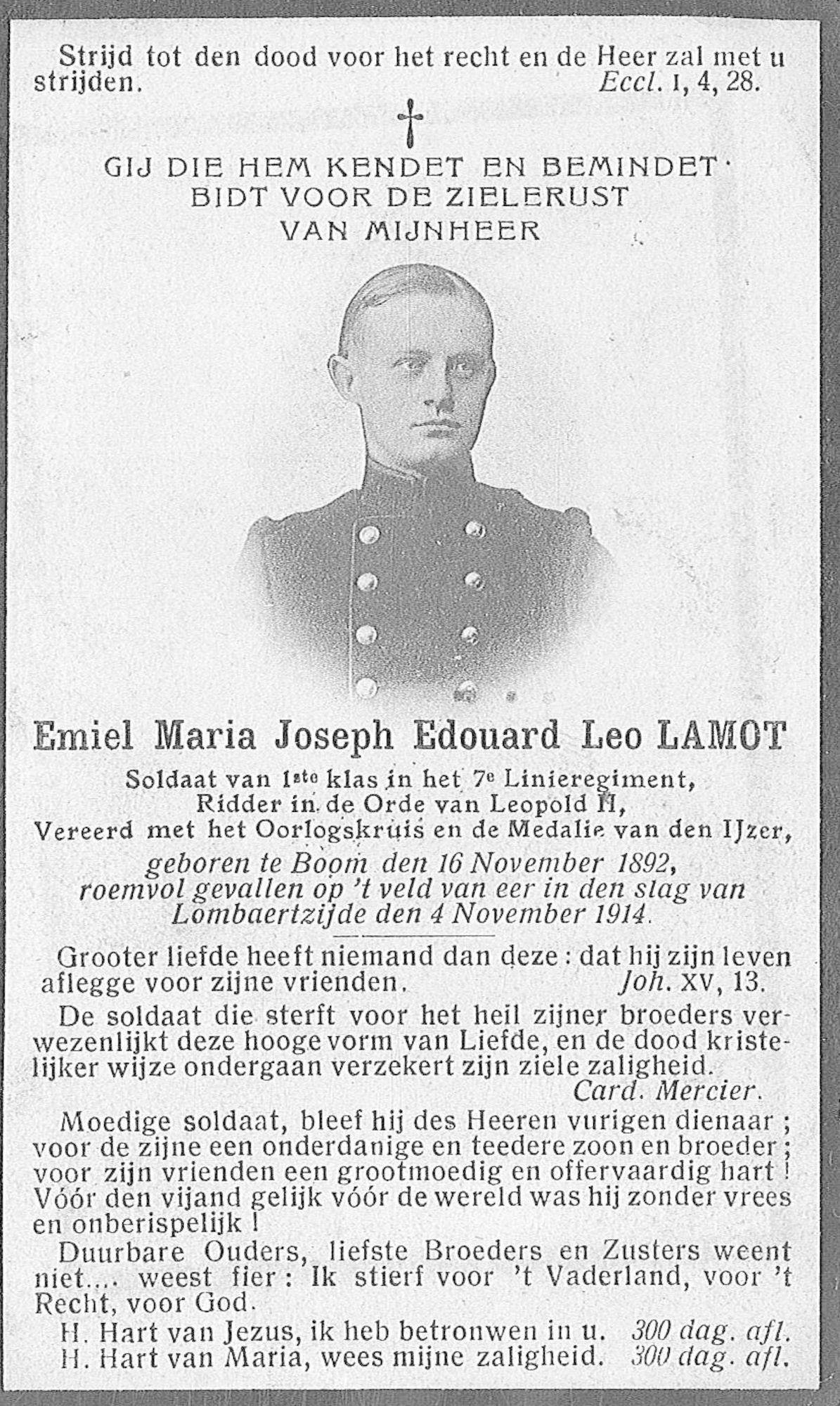 Emiel Maria Joseph Eduard Leo Lamot