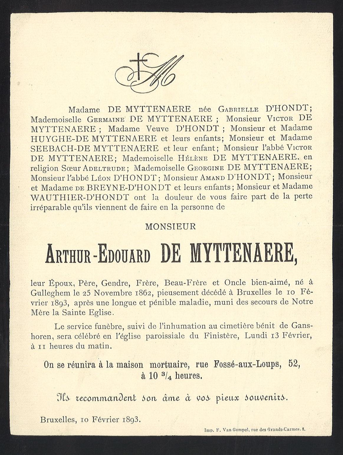Arthur-Edouard De Myttenaere