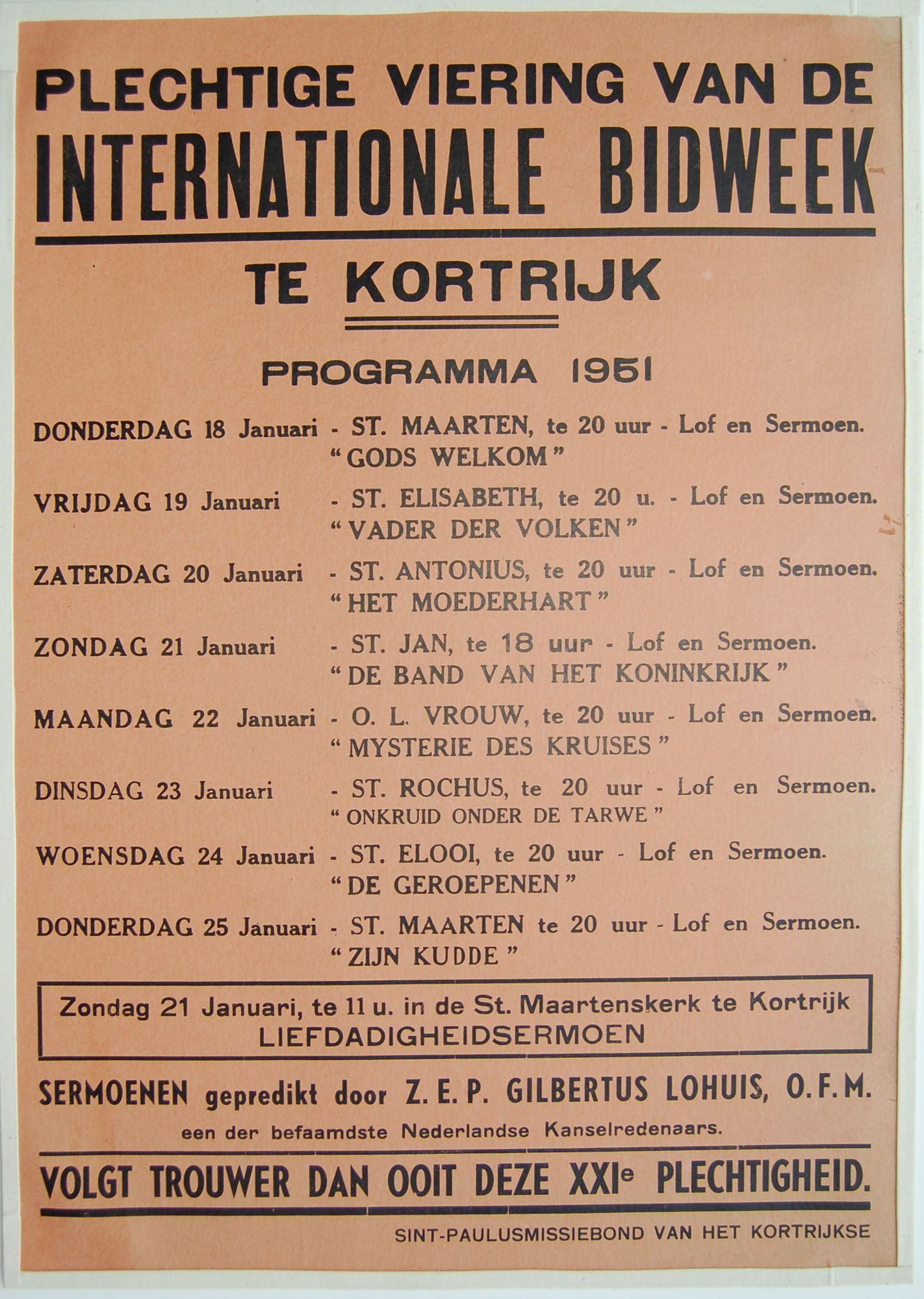 Bidweek 1951