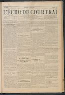 L'echo De Courtrai 1914-08-30