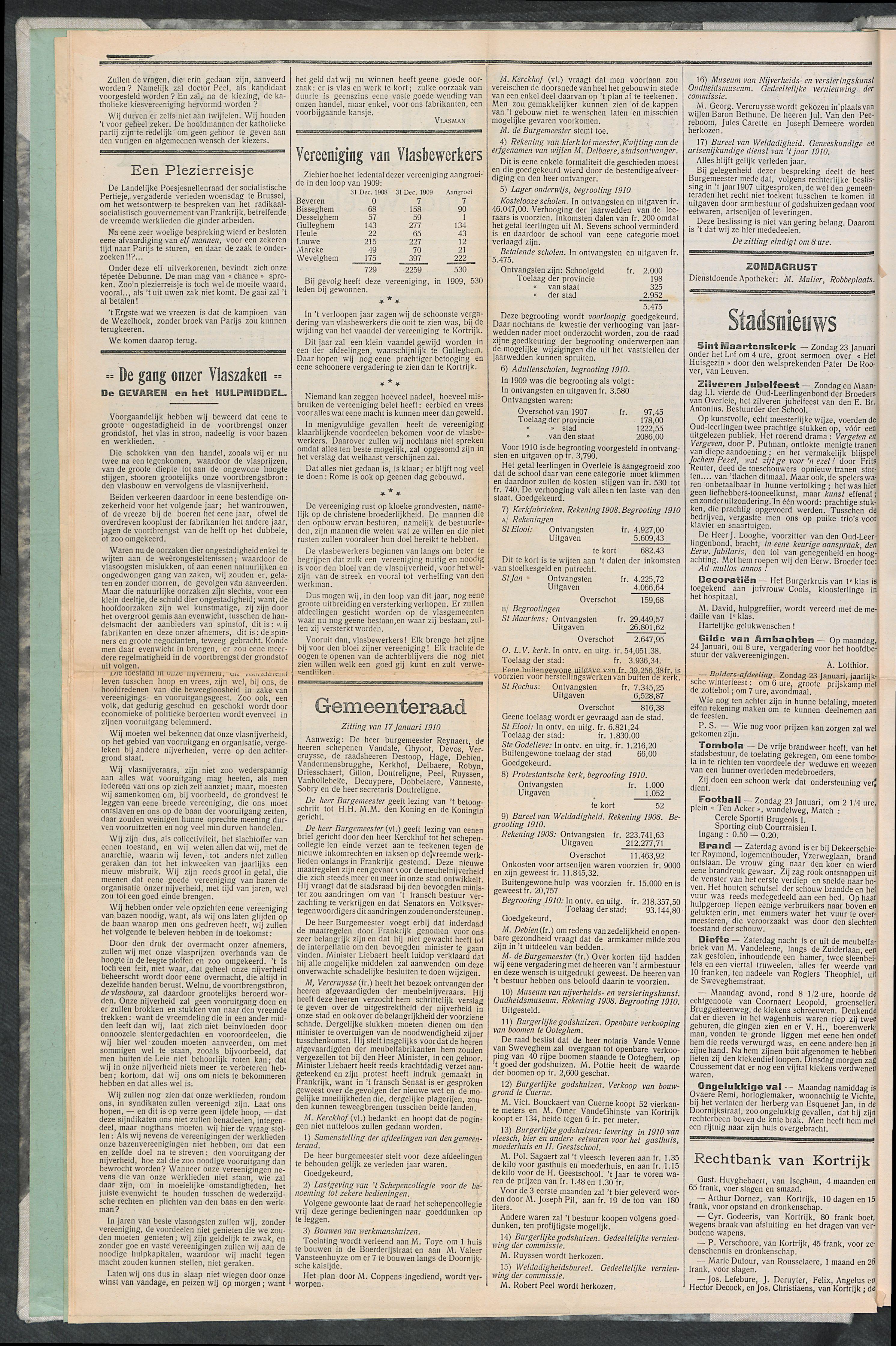 Het Kortrijksche Volk 1910-01-23 p2