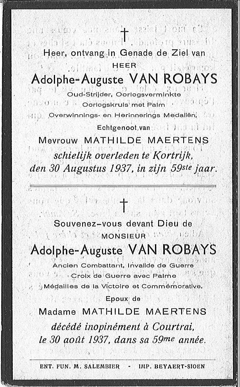 Adolphe-Auguste Van Robays