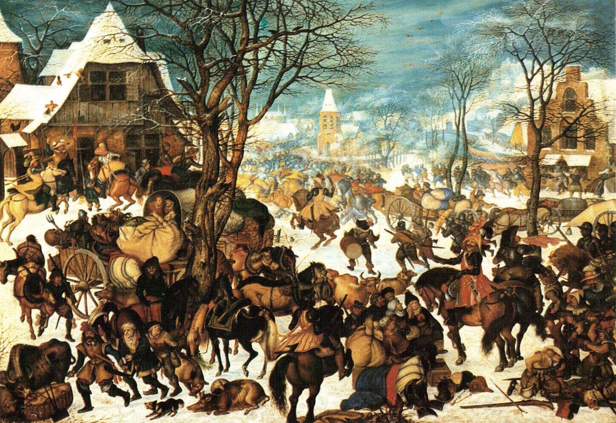 Roeland Savery (1604) - Plundering van een dorp