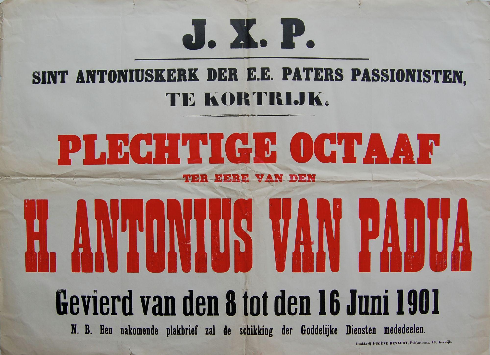 Plechtigheid Sint Antoniuskerk 1901