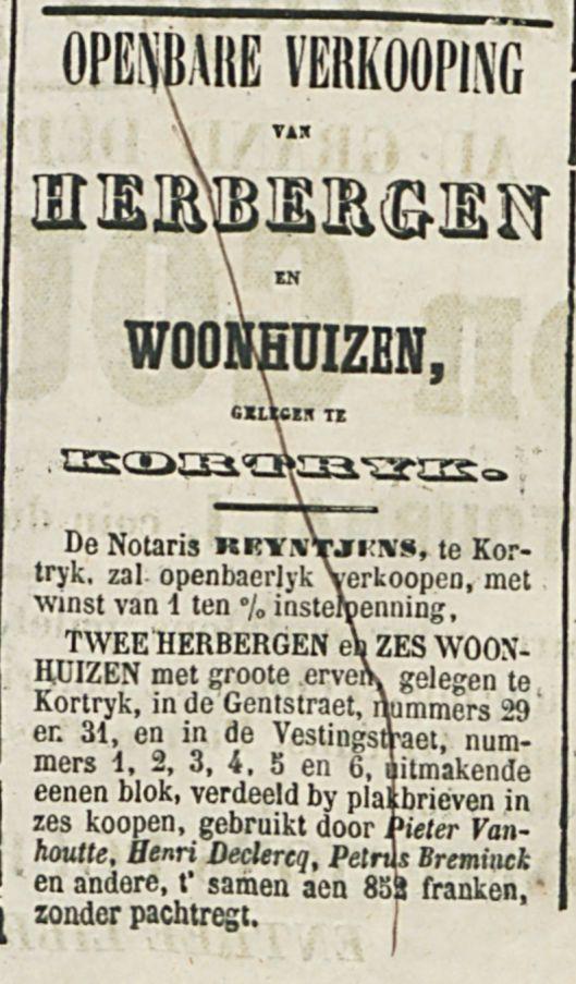 OPENBARE VERKOOPING VAN HERBERGEN-1