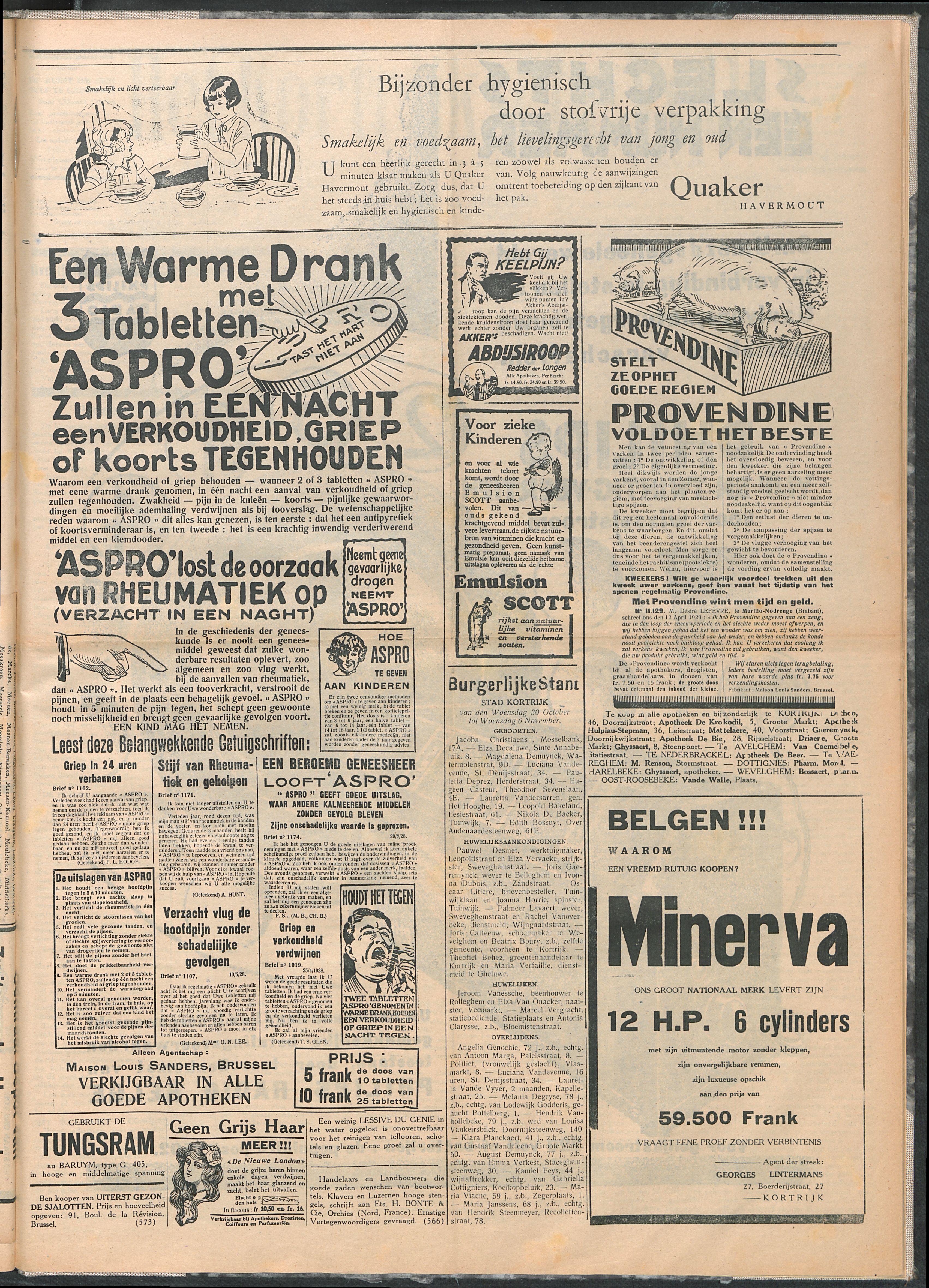 Het Kortrijksche Volk 1929-11-10 p6