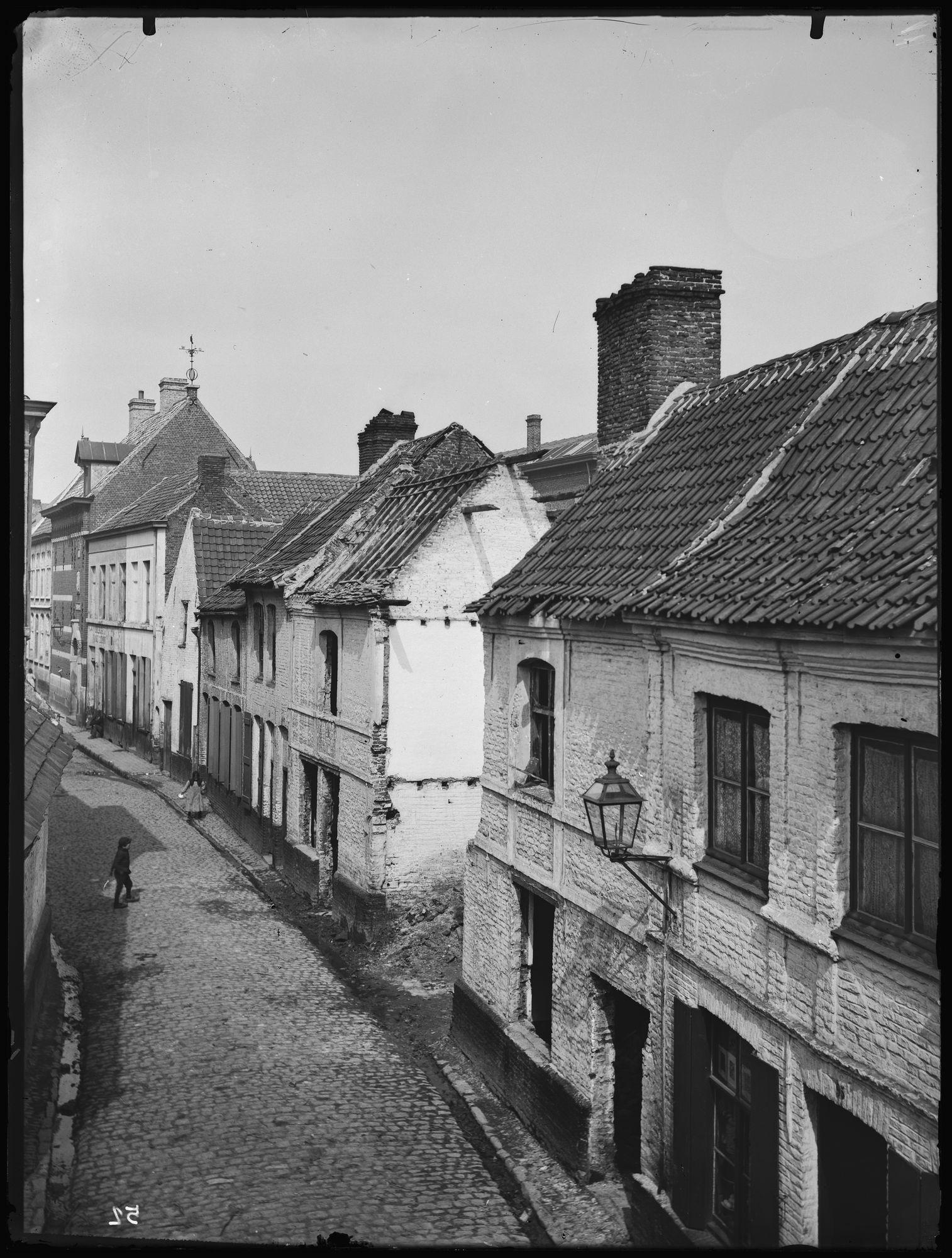 Kapelstraat eind 19de eeuw