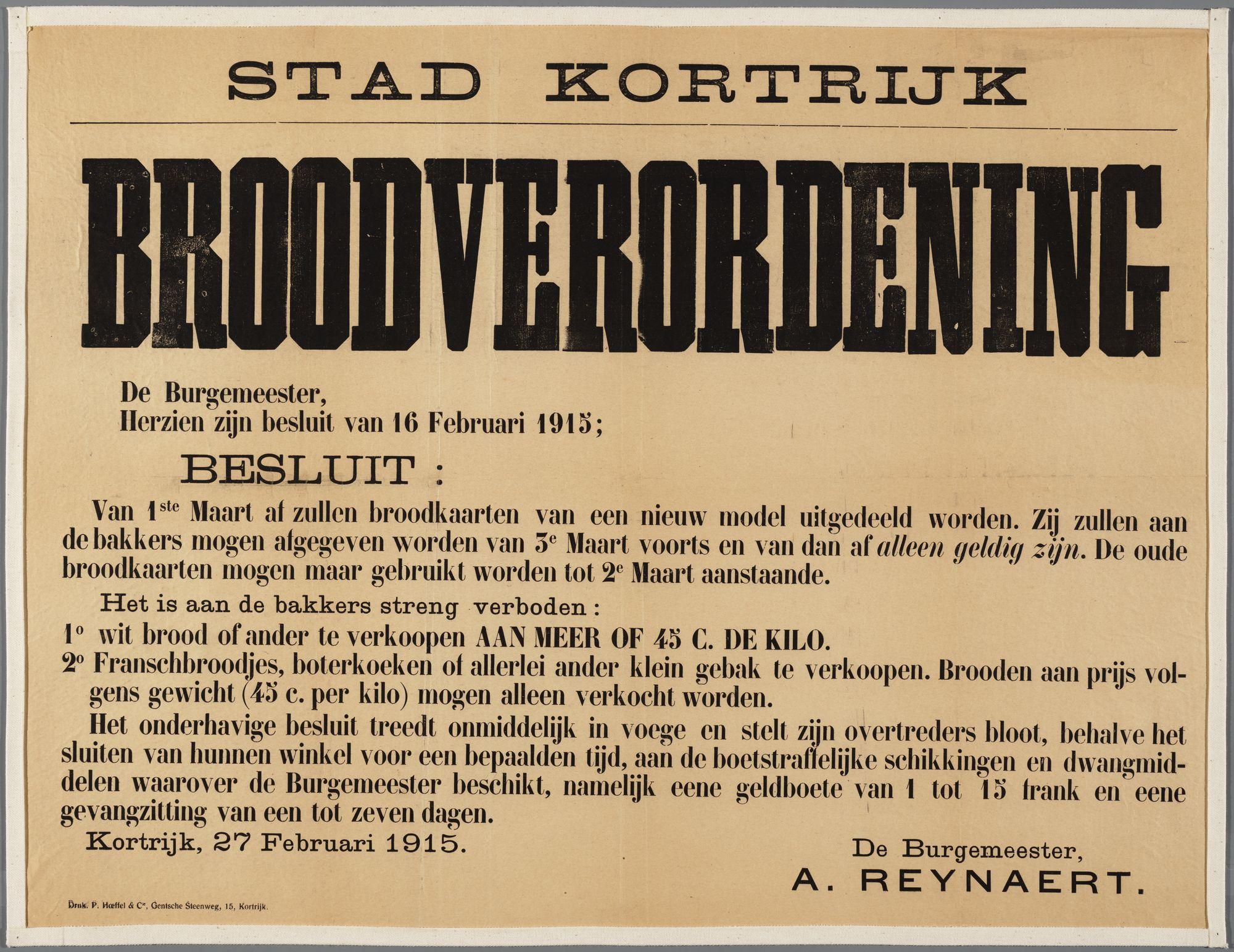 Oorlogsaffiche 1915