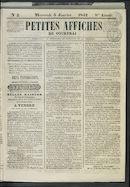 Petites Affiches De Courtrai 1842-01-05