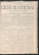 L'echo De Courtrai 1883-07-08