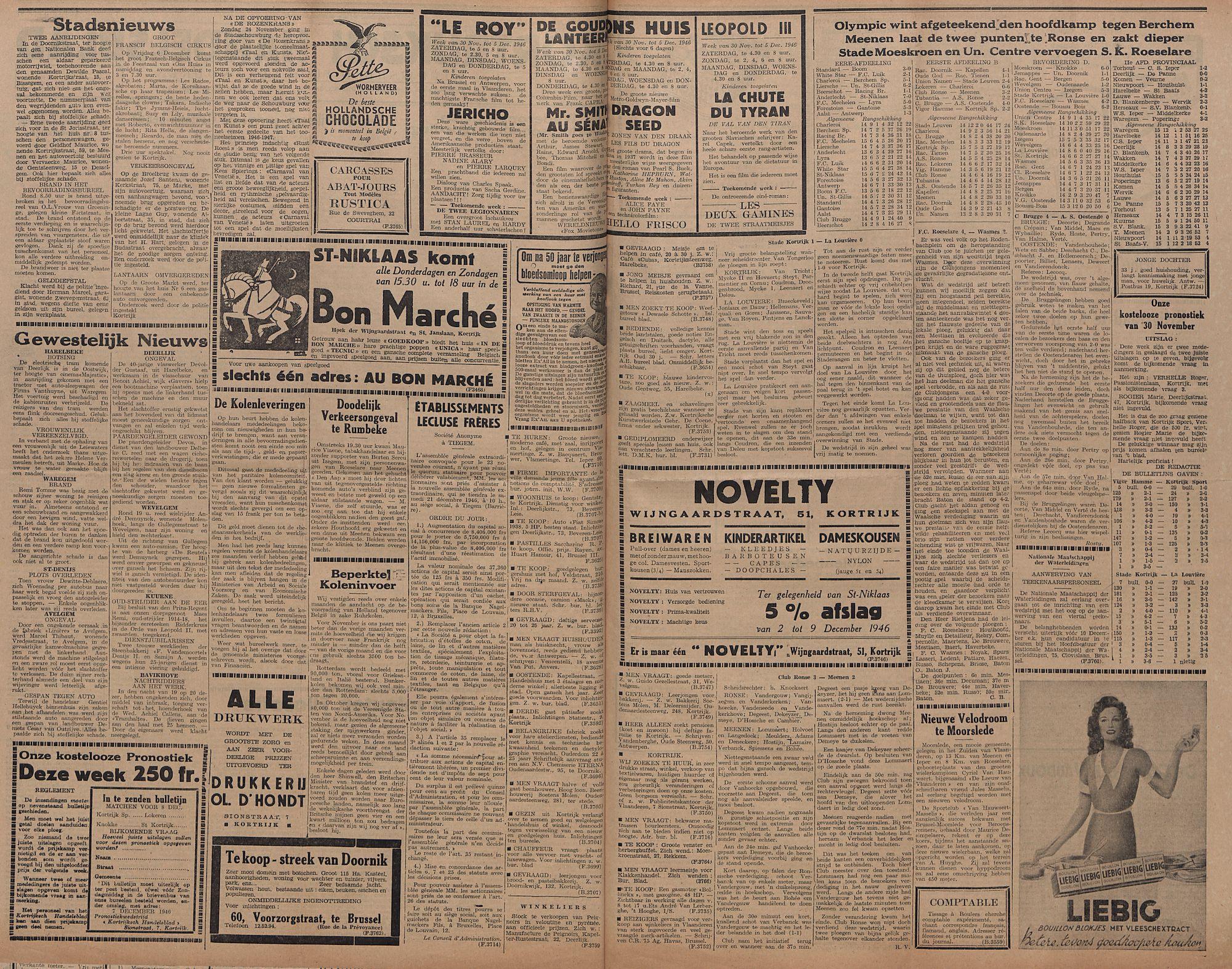 Kortrijksch Handelsblad 3 december 1946 Nr97 p2-3