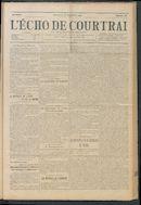 L'echo De Courtrai 1914-09-27 p1